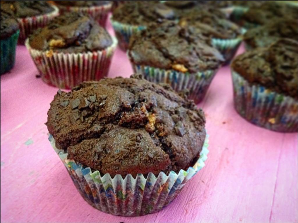 muffin al doppio ciocccolato