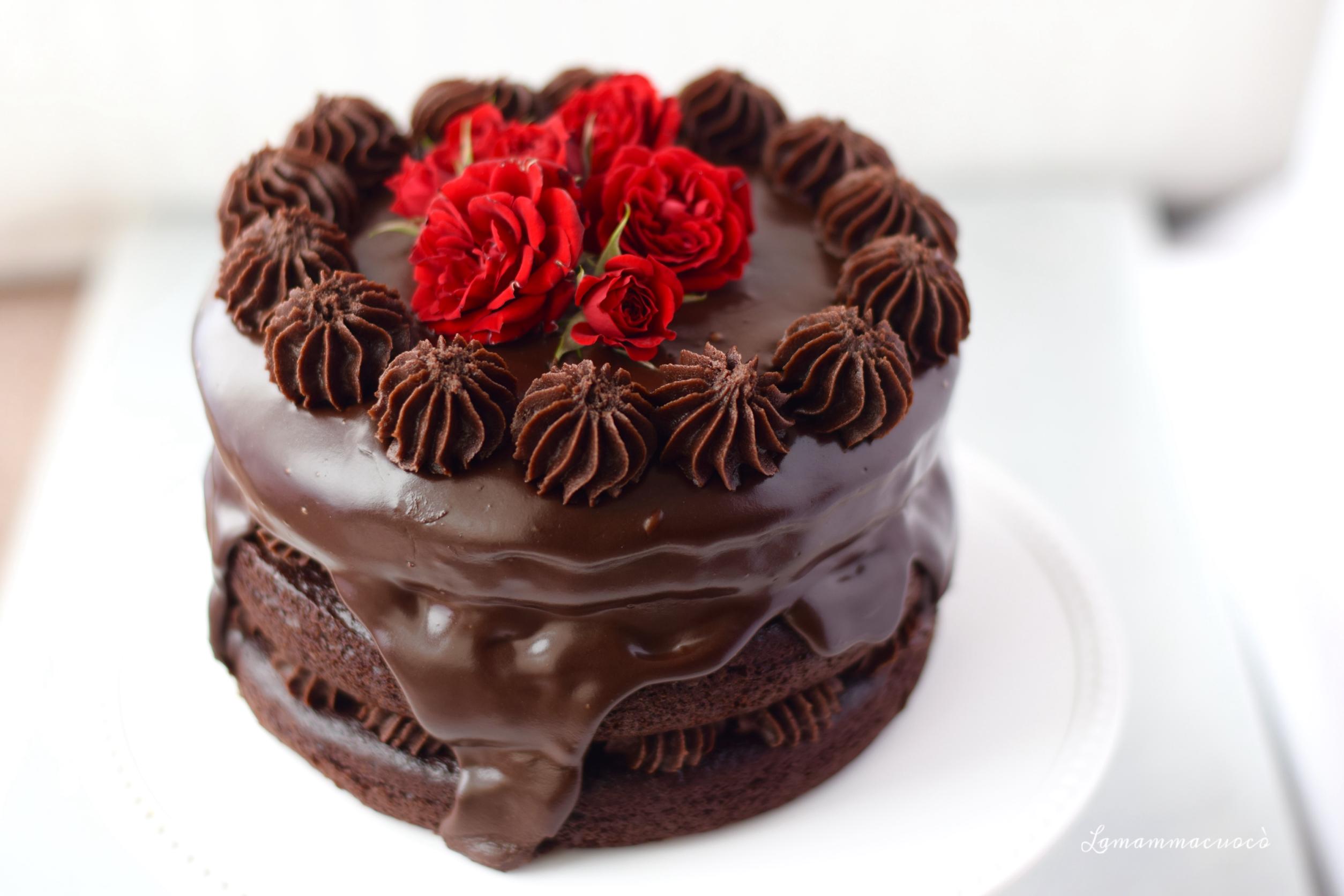 Torta al cioccolato e barbabietola la mamma cuoc - Decorazioni torte con glassa ...