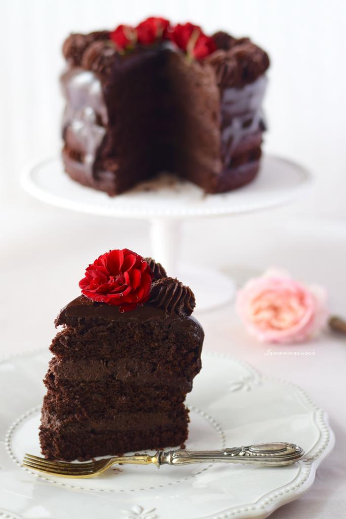 Torta al cioccolato e barbabietola
