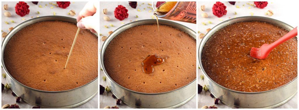 tutorial per torta persiana dell'amore con mandorle, pistacchi e acqua di rose
