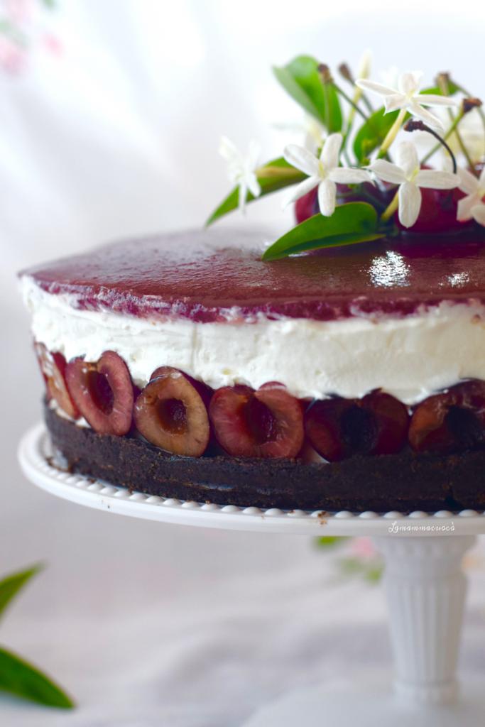 Cheese Cake allo yogurt e ciliegie - con topping alla ciliegia