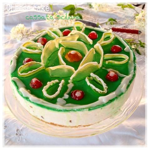 ricetta cheesecake cassata siciliana estiva facile e veloce senza cottura