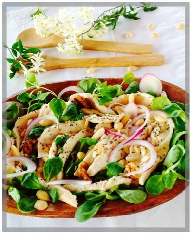 insalata di pollo estiva facile e veloce