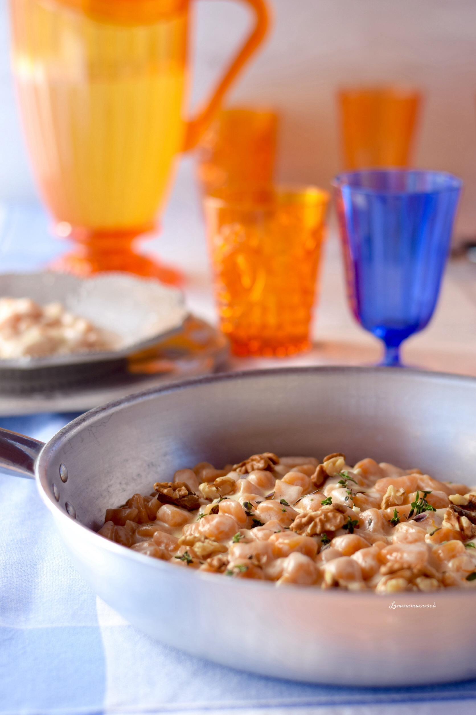 gnocchi con zucca gorgonzola e noci senza patate