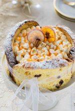 Charlotte di panettone con camy cream all'arancia e torrone
